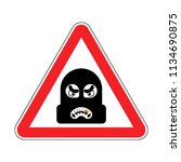 attention robber. caution rogue.... | Shutterstock .eps vector #1134690875