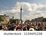 london  uk july 13  2018 ... | Shutterstock . vector #1134691238