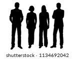 vector silhouettes men and... | Shutterstock .eps vector #1134692042