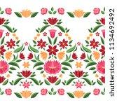 hungarian folk pattern vector...   Shutterstock .eps vector #1134692492