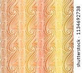 maori tribal pattern vector... | Shutterstock .eps vector #1134692738