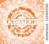 question orange mosaic emblem | Shutterstock .eps vector #1134693182