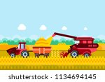 farming and agriculture... | Shutterstock .eps vector #1134694145