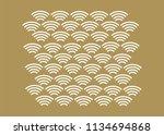 japanese traditional pattern.... | Shutterstock .eps vector #1134694868