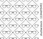 glasses seamless pattern. retro ...   Shutterstock .eps vector #1134695492
