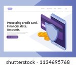 financial protection data ... | Shutterstock .eps vector #1134695768