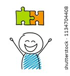 puzzle  solution  symbol with... | Shutterstock .eps vector #1134704408