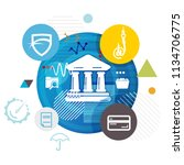 banking fraud abstract  ... | Shutterstock .eps vector #1134706775
