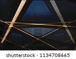 metal in modern architecture....   Shutterstock . vector #1134708665