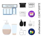 tattoo  drawing on the body... | Shutterstock .eps vector #1134710372
