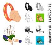 manipulation by hands cartoon... | Shutterstock .eps vector #1134710456