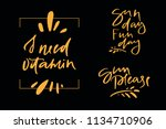 calligraphy text sun day fun... | Shutterstock .eps vector #1134710906