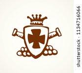 aged grunge historic award... | Shutterstock .eps vector #1134716066