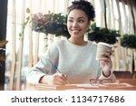 young african descent woman...   Shutterstock . vector #1134717686