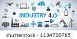 industry 4.0 infographic... | Shutterstock .eps vector #1134720785