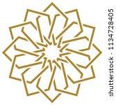 ottoman tile   tezhip motifs...   Shutterstock .eps vector #1134728405