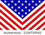 usa flag elements illustration... | Shutterstock . vector #1134729542
