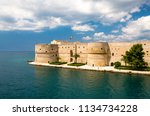 old medieval aragonese castle...   Shutterstock . vector #1134734228