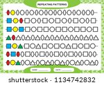 complete repeating patterns.... | Shutterstock .eps vector #1134742832