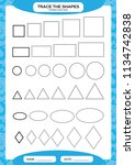 different shape sizes. learning ... | Shutterstock .eps vector #1134742838