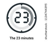 the 23 minutes icon isolated on ...