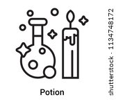 potion icon vector isolated on... | Shutterstock .eps vector #1134748172