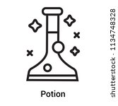potion icon vector isolated on... | Shutterstock .eps vector #1134748328