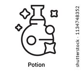 potion icon vector isolated on... | Shutterstock .eps vector #1134748352