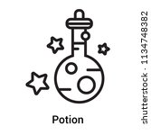 potion icon vector isolated on... | Shutterstock .eps vector #1134748382
