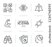 collection of thin line icons... | Shutterstock .eps vector #1134748595