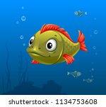 vector illustration of green... | Shutterstock .eps vector #1134753608