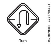 turn icon vector isolated on... | Shutterstock .eps vector #1134756875