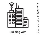 building with antenna icon... | Shutterstock .eps vector #1134762518