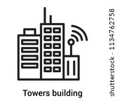 towers building transmission... | Shutterstock .eps vector #1134762758