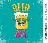 beer me vector concept...   Shutterstock .eps vector #1134767246