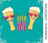 beer me vector concept...   Shutterstock .eps vector #1134767336
