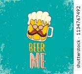beer me vector concept...   Shutterstock .eps vector #1134767492