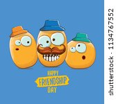 vector friends tiny potato... | Shutterstock .eps vector #1134767552
