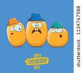 vector friends tiny potato... | Shutterstock .eps vector #1134767588