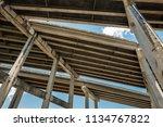 skyward view of interstate 95... | Shutterstock . vector #1134767822