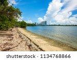 scenic bay view from oleta...   Shutterstock . vector #1134768866