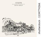suwon  south korea  asia.... | Shutterstock .eps vector #1134774266
