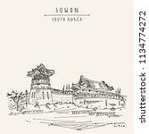 suwon  south korea  asia.... | Shutterstock .eps vector #1134774272