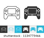 game pad black linear and... | Shutterstock .eps vector #1134775466