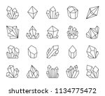 jewel quartz crystal thin line... | Shutterstock .eps vector #1134775472