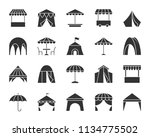 tent silhouette icons set. sign ... | Shutterstock .eps vector #1134775502