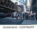 new york city   usa   jul 13...   Shutterstock . vector #1134786695