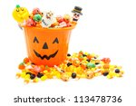 Jack O Lantern Candy Pail With...