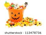 Jack O Lantern Candy Pail With...