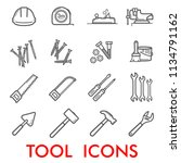 tools thin line art icons for... | Shutterstock .eps vector #1134791162